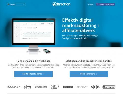 Adtraction är ett affiliatenätverk i världsklass
